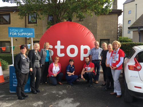 The Healthy Lifestyle Team during Stoptober