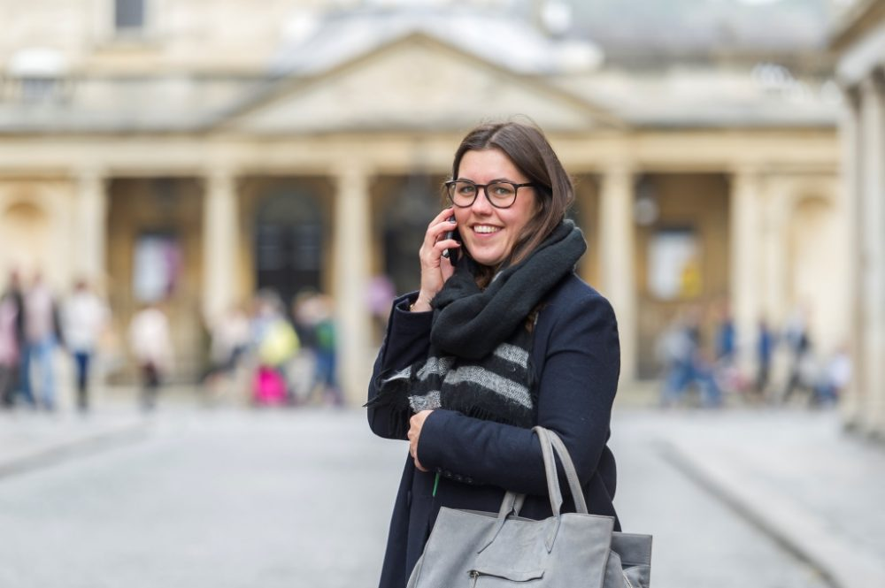 Lady using a phone